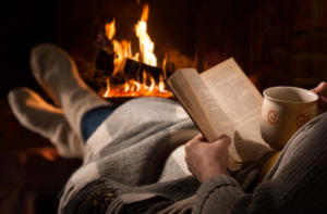 reading-book-fire-relaxing